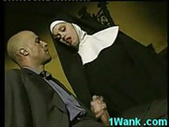 Horny nun loves to suck big cock and fuck