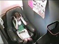 VDJ 05 part 1 - Japanese girl masturbating in video room - voyeur hidden spycam