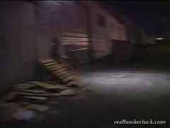 Foul hooker alley blowjob<br>