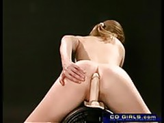 Teen big-tit amateur cums on the sybian