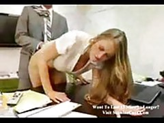 Secretary seducing boss