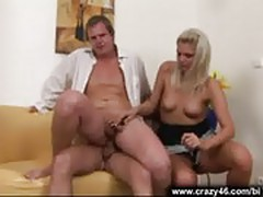 Bi three-way sex scene