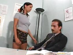 hot schoolgirl with her teacher