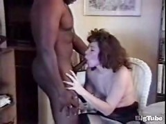 milf wearing stockings gets licked then fucked<br>