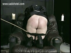 Beautiful nun slave bends