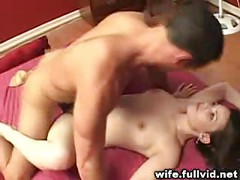 Housewife Takes Facial<br>