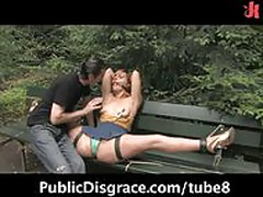 Crazy outdoor humiliation