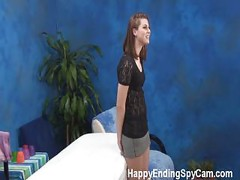 Shy Massage GIrl Gives Happy