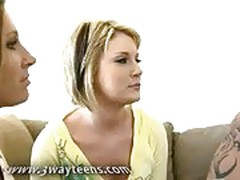 Petite teen swinger seduced