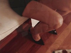 high heel shoe foot fetish
