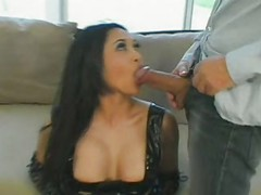 Mika Tan sucks & assfucks huge cock for cumshot in her ass
