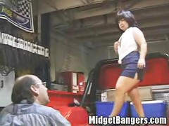Midget Getting Fucked in the Back of a Pickup Truck<br>