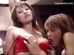 Redhead Girl In Red Lingerie Getting Her Nipples Sucked Pussy Licked On The Desk Of The Office<br>