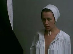 Nun playing with sleeping guest then spanked by the Mother