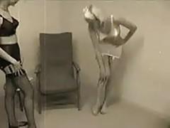 Women in vintage underwear