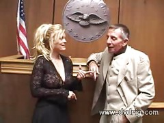 Blonde Bitch Bianca Pureheart Motivates Her Lawyer To Get Her Out Of Jail By Screwing Him Hard Behind Bars<br>