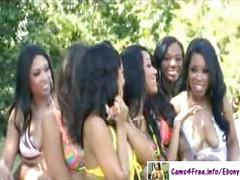 HUGE Ebony Orgy Tons Of Hot