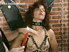 Milf slave got hot candlewax