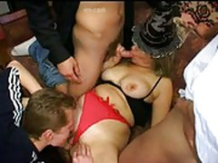3 Boys Fucking a Russian Mature Mom