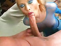 Bitch gets fucked in mouth and ass