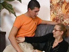 Anal Granny in Stockings gets