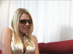 CFNM Three blondes tease and jerk rockstar