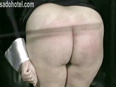 Bend over nun is spanked on