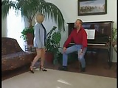 Older Blonde Goes For Half
