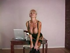Mature lady with big silicone