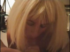 blowjob by mature blonde