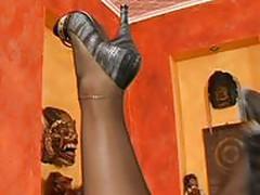 black pantyhose show