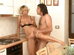 NICE BLONDE GERMAN MATURE ANALYSED IN HER KITCHEN  -B$R