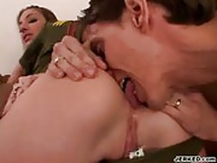 Bitch in uniform gets her ass