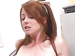 Tight redhead Nikki lets her