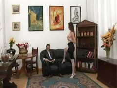 Mature Italian Mom - Anal sex in Stockings