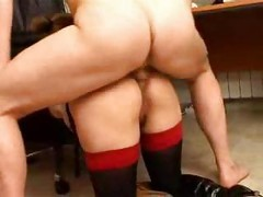 Young Blonde Busty Secretary Doggystyle Anal Fucked By Boss<br>