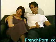 Horny french housewife cheats on husband with young stud