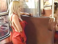 Lesbian Sex on the Train