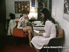 Two hotties lesbian in office