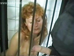 Horny slave with tiny tits
