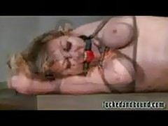 Ball gagging slave!