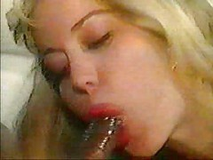 Retro Moana Pozzi Black Cock Cum Swallow