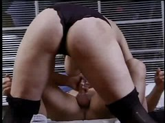 Randi Storm--Older Brunette milf takes it up the ass