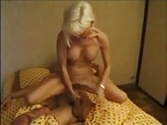 Stepmother fucking son while