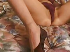 43 years old mature latina slut masturbating in hotel room