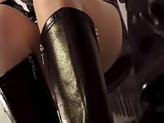 Closeup pantyhose ripping