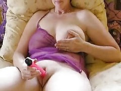Mature toy masturbation