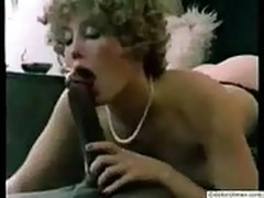 Retro classic hairy pussy vs huge monster black cock
