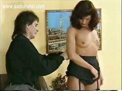 Master pulls on horny slave
