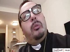 Spanish Fat Priest Fucks A